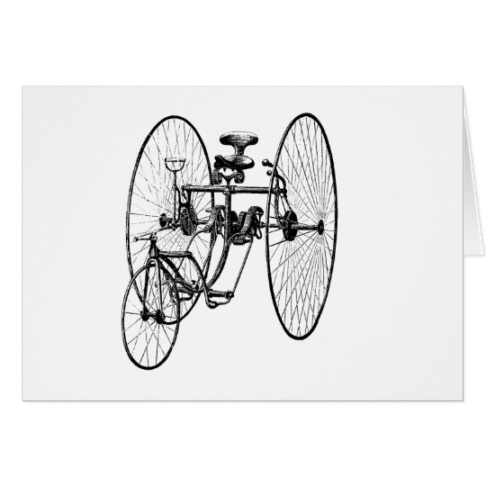 Three Wheel Bicycle Tricycle Card