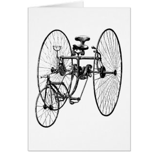 Three Wheel Bicycle Tricycle Stationery Note Card