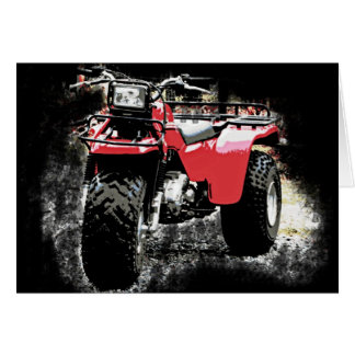 Three Wheeled ATC Red Trike Motorbike Card