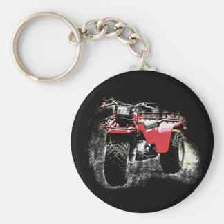Three Wheeled ATC Red Trike Motorbike Keychain
