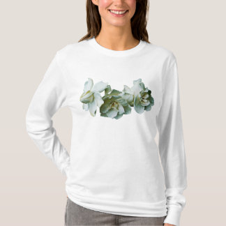 Three White Camelias Ladies T-Shirt