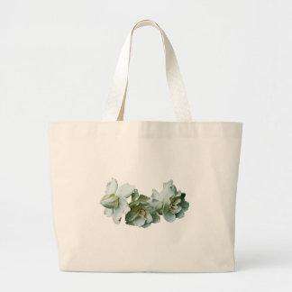 Three White Camelias Large Tote Bag