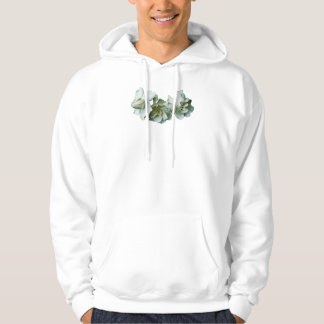 Three White Camelias Mens Hooded Pullover