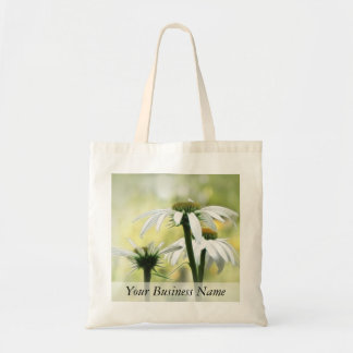 Three White Coneflowers Tote Bag