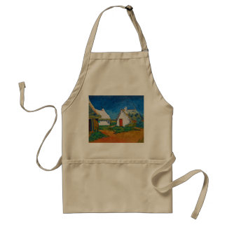 Three White Cottages in Saintes-Maries by Vincent Adult Apron