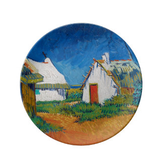 Three White Cottages in Saintes-Maries by Vincent Dinner Plate