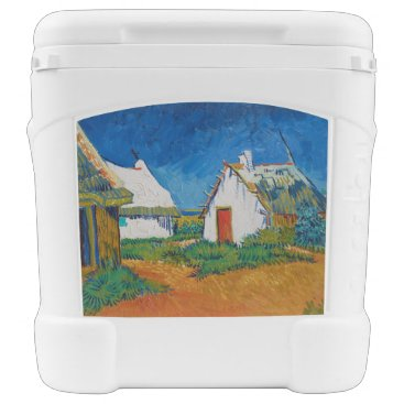Three White Cottages in Saintes-Maries by Vincent Rolling Cooler