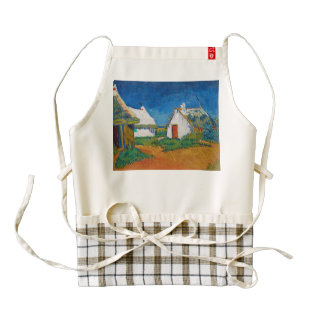 Three White Cottages in Saintes-Maries by Vincent Zazzle HEART Apron