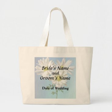Wedding Themed Three White Daisies Wedding Products Large Tote Bag