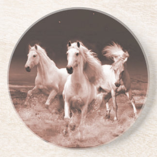 Three White Horses Coaster