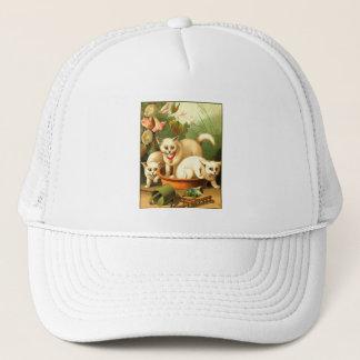 Three White Kittens Trucker Hat