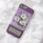 Three White Magnolias on a Lavender Background iPhone 6 Case
