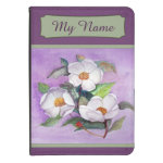 Three White Magnolias on a Lavender Background Kindle 4 Case