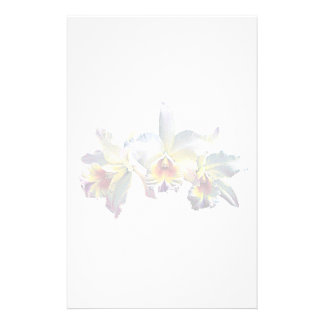 Three White Orchids Personalized Stationery