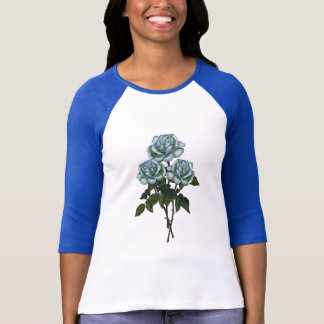 Three White Roses: Color Pencil Freehand Art T-Shirt