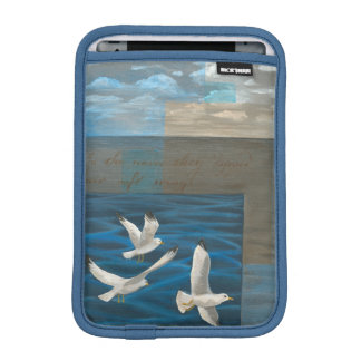 Three White Seagulls Flying Over the Water Sleeve For iPad Mini