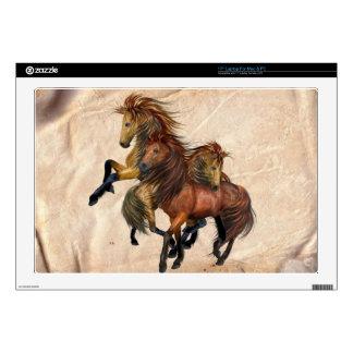 Three Wild Stallions Horse Laptop Skin