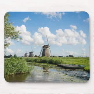 Three windmills and a canal mousepad