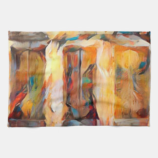 Three Windows of Emotion, abstract expression Hand Towel
