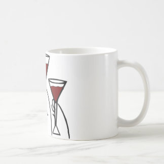Three Wine Glasses in Hands Cartoon Coffee Mug
