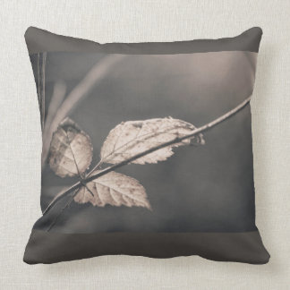 Three winter leaves throw pillow