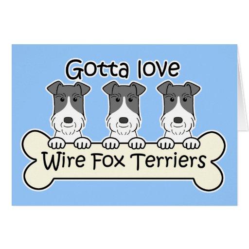 Three Wire Fox Terriers Card