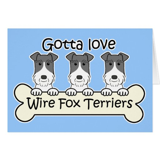 Three Wire Fox Terriers Cards