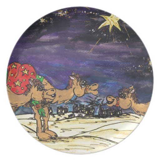 Three Wise Camels Plates
