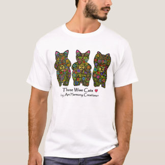 Three Wise Cats Men's T-Shirt
