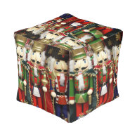 Three Wise Crackers Cube Pouf