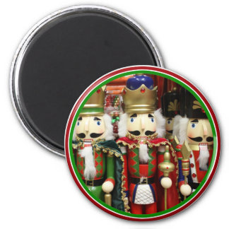 Three Wise Crackers - Nutcracker Soldiers 2 Inch Round Magnet