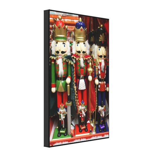 Three Wise Crackers - Nutcracker Soldiers Canvas Print