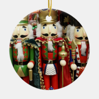 Three Wise Crackers - Nutcracker Soldiers Ceramic Ornament