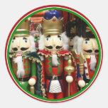 Three Wise Crackers - Nutcracker Soldiers Classic Round Sticker