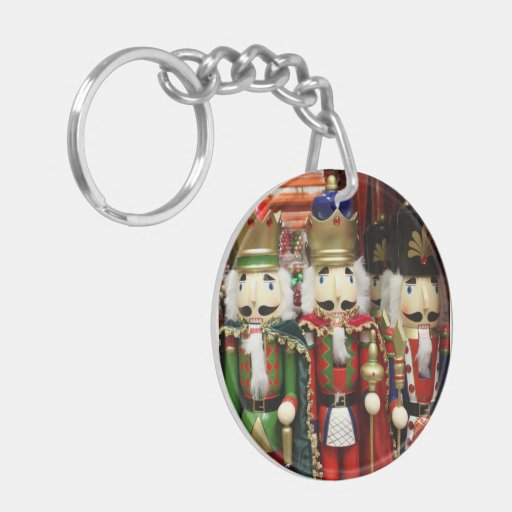 Three Wise Crackers - Nutcracker Soldiers Double-Sided Round Acrylic Keychain