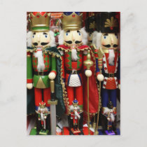 Three Wise Crackers - Nutcracker Soldiers Holiday Postcard