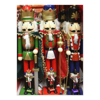 Three Wise Crackers - Nutcracker Soldiers 5.5x7.5 Paper Invitation Card