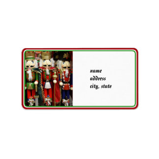 Three Wise Crackers - Nutcracker Soldiers Personalized Address Label