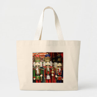 Three Wise Crackers - Nutcracker Soldiers Large Tote Bag