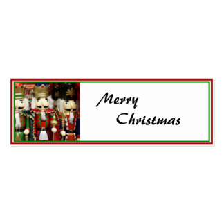 Three Wise Crackers - Nutcracker Soldiers Mini Business Card