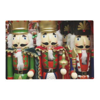 Three Wise Crackers - Nutcracker Soldiers Laminated Place Mat