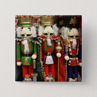 Three Wise Crackers - Nutcracker Soldiers Pinback Button