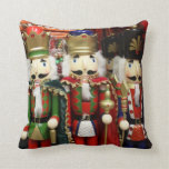 Three Wise Crackers - Nutcracker Soldiers Throw Pillows