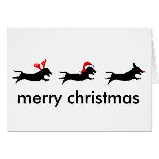 Three Wise Dachshunds Christmas Card