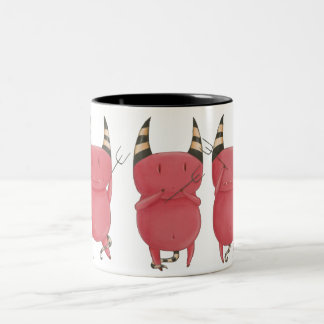 Three wise Devils- little devil art Mugs