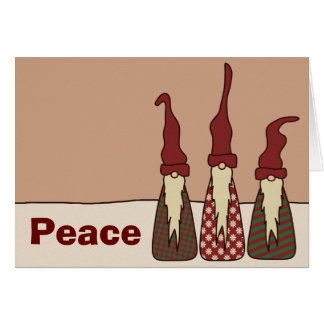 Three Wise Elves, greeting card