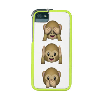Three wise emoji monkeys iPhone Case 5/5S iPhone 5/5S Covers