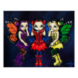 Three Wise Faeries gothic fairy Art Print