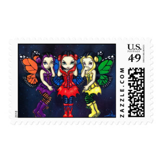 """Three Wise Faeries"" Stamp"