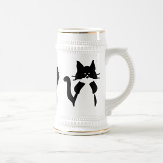 Three Wise Kitties Beer Stein